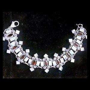 Nicky Butler Moonstone Garnet Sterling Bracelet